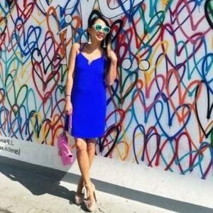 Boutique Cobalt Blue Strappy Mini Shift Dress XS